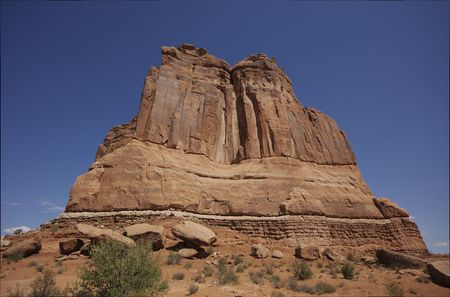 Utah Rock formation in Arches National Park