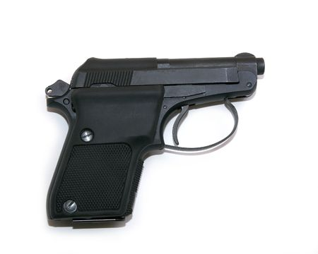 A small concealable handgun shot isolated against a white background.
