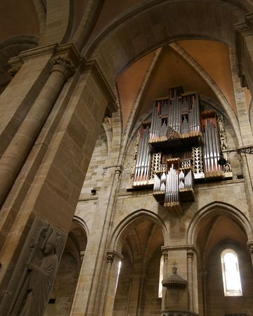 The organ pipes of Bambergs Imperial Cathedral.