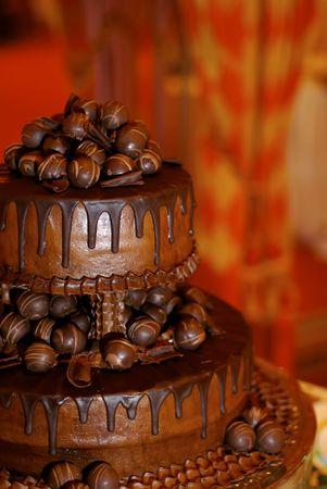 A beautiful grooms cake. Stock Photo