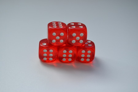 bets: red dice Stock Photo