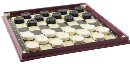 It is black white checkers on a game floor. Stock Photo