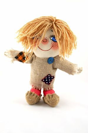A toy - Brownie, very lovely doll under legends the keeper of a house cosiness Stock Photo