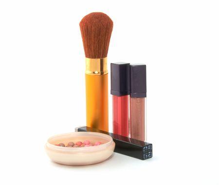 Cosmetic set  on white background Stock Photo