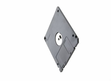 diskette: Diskette on a white background