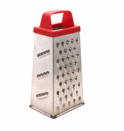 Manual kitchen grater on a white background
