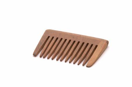 Hairbrush on a white background Stock Photo