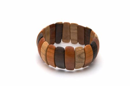 Female bracelet on a white background