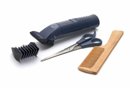 Set for a hairstyle of hair on a white background  Stock Photo