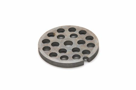 Lattice from a meat grinder on a white background