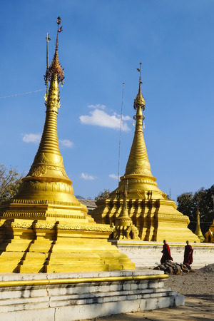 sight seeing: Monastery near Nyaung Shwe, nle Lake Region , Myanmar