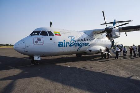 runways: Airplane of Air Bagan at Nyaung U Airport, Mandalay Division, Myanmar, Asia