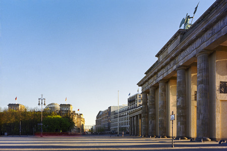 18th: Square of march 18th at Brandenburg Gate, Berlin, Germany