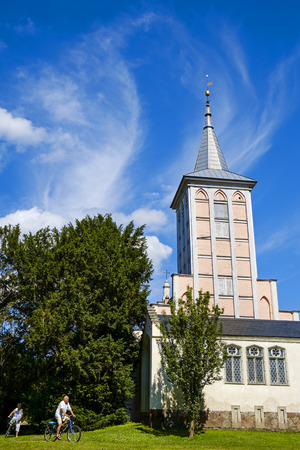 Church in the Lenn?-Park, Criewen, Schwedt, Brandenburg, Germany