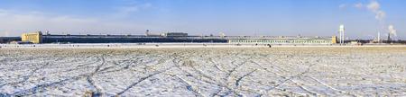 wintriness: Snow at former Tempelhof Airport, Tempelhof Park, Berlin, Germany