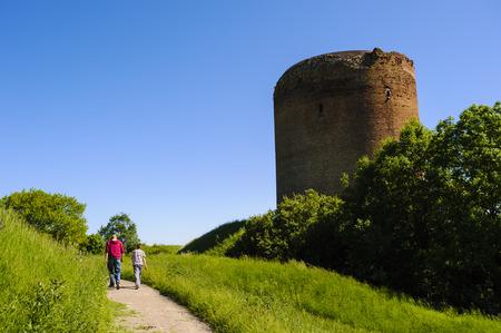 donjon: Donjon of the Burg Stolpe castle an der Oder, Brandenburg, Germany