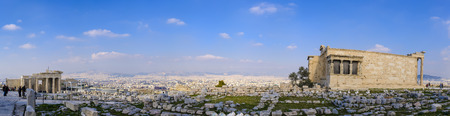 antik: View of Athens from the Acropolis, Greece