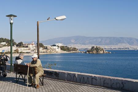 waterside: Waterside promenade in Piraeus, Greece