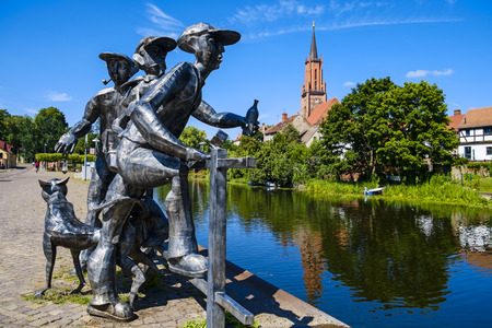Sculpture Schleusenspucker, Rathenow, Brandenburg, Germany