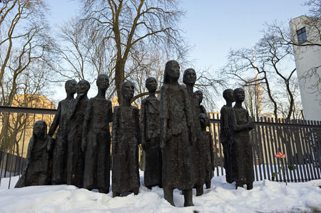 fascism: Sculpture dedicated to the Jewish victims of fascism, at the Jewish Cemetery, Grosse Hamburger Strasse, Berlin, Germany Editorial