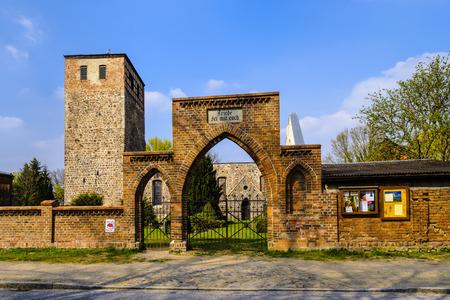 church ruins: Church ruins in Beiersdorf, Maerkisch-Oderland district, Brandenburg, Germany Editorial