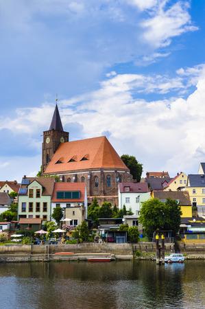 lower lusatia: Nikolai Church in Fuerstenberg Oder, Eisenhuettenstadt, Brandenburg, Germany Editorial