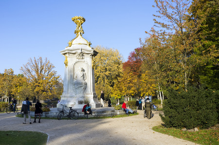autumnally: Beethoven-Haydn-Mozart Monument, memorial to composers, Tiergarten, Berlin, Germany