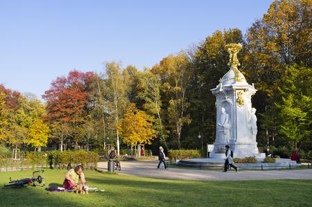 amadeus: Beethoven-Haydn-Mozart Monument, memorial to composers, Tiergarten, Berlin, Germany