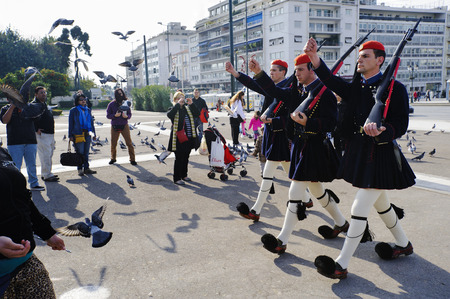 syntagma: Cambio della guardia, Piazza Syntagma, Atene, Grecia