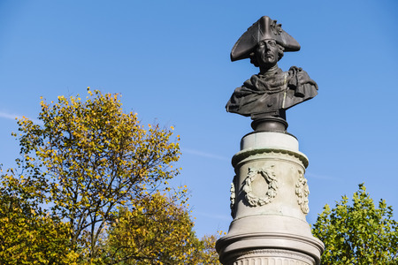 Monument of Frederick the Great in public park Friedrichshain, Berlin, Germany
