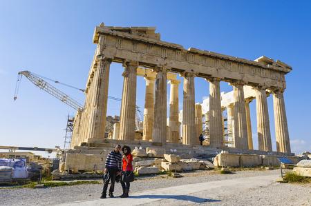 archaeologically: Parthenon, Acropolis, Athens, Greece