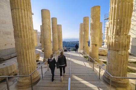 archaeologically: Propylaea, Acropolis, Athens, Greece
