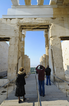 acropolis: Propylaea, Acropolis, Athens, Greece