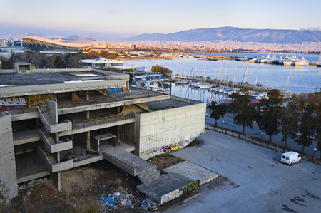 housing lot: Derelict  structural work in Paleo Faliro, Athens, Greece