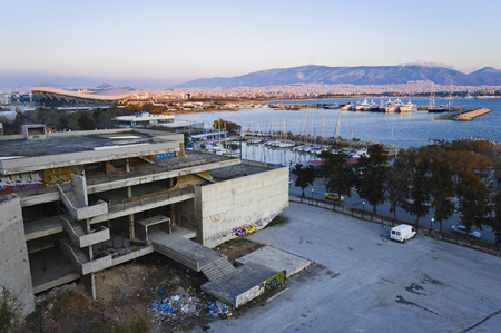 ambiance: Derelict  structural work in Paleo Faliro, Athens, Greece