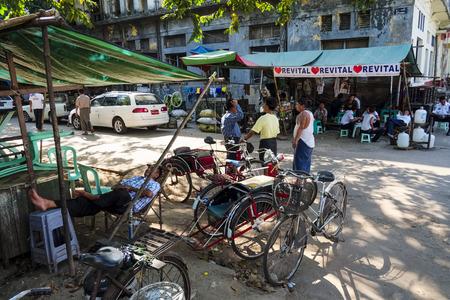 trishaw: Trishaw driver, Yangon, Myanmar