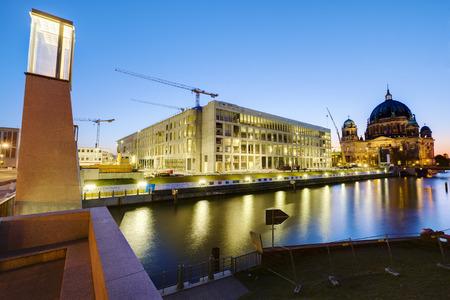 spree: Building site Palace at Berlin Spree River Berlin Germany