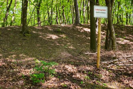 landscape garden: Inland dunes in the landscape garden Herzberge, Berlin-Lichtenberg, Germany