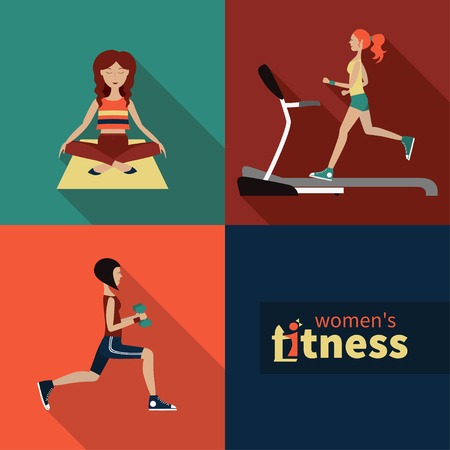 icons on the topic of fitness for women