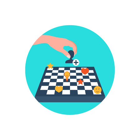 subscriber: Vector icon. Chess board. Content strategy. Adding subscribers.