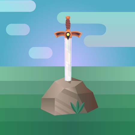 Sword in the Stone. Illustration