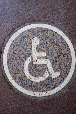 wheelchair access: handicap sign symbol