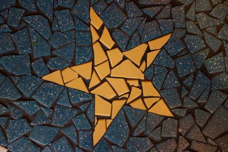 Mosaik-Fliesen Stern
