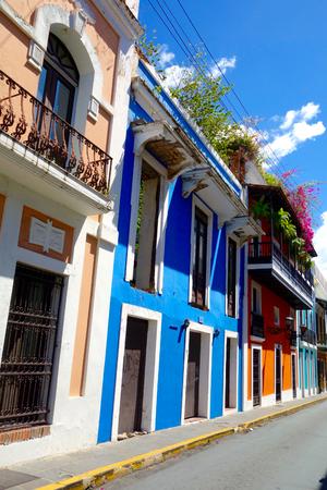 puerto rico: Homes in Old San Juan Puerto Rico