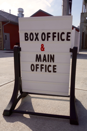 Box Office Sign Stock fotó