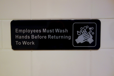 must: Employees Must Wash Hands Sign