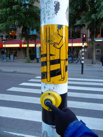 paso peatonal: Pulse para cruzar