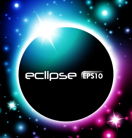 Fantastic Colorful Eclipse Stock Vector - 9826967