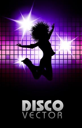 Disco parti affiche eps10