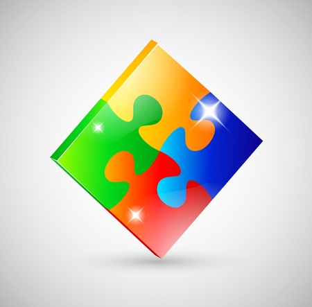business puzzle: Jigsaw icon